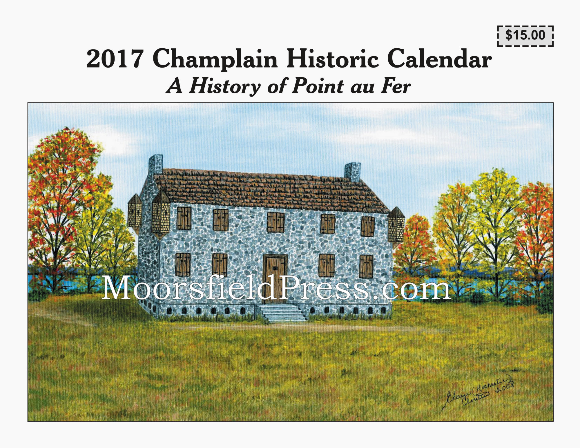 cover 2017 champlain historic calendar