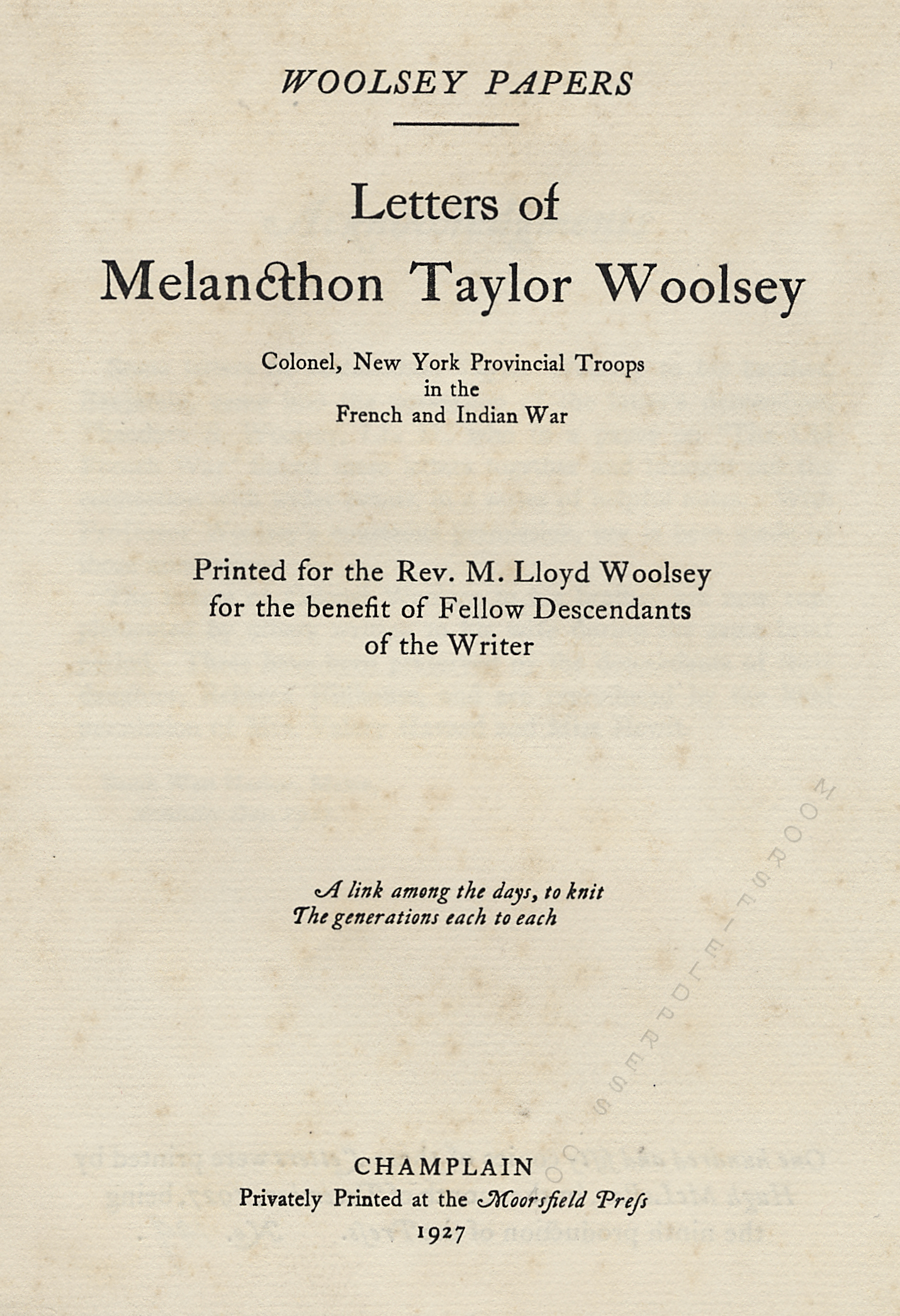 moorsfield press publication-letters